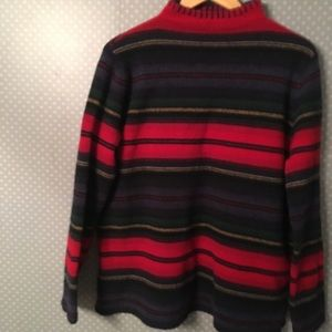 LRL Lauren Ralph Lambswool Sweater Pullover Stripe